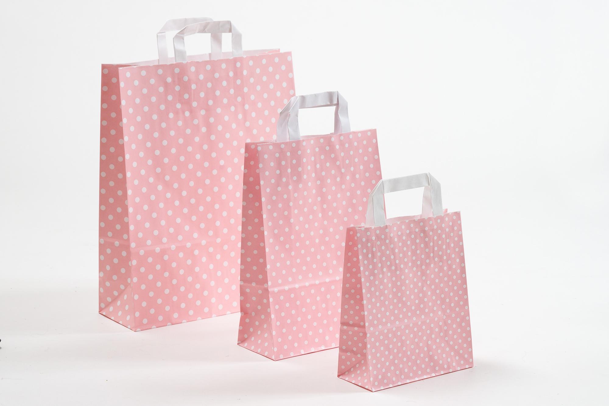 Punkte rosa-weiß