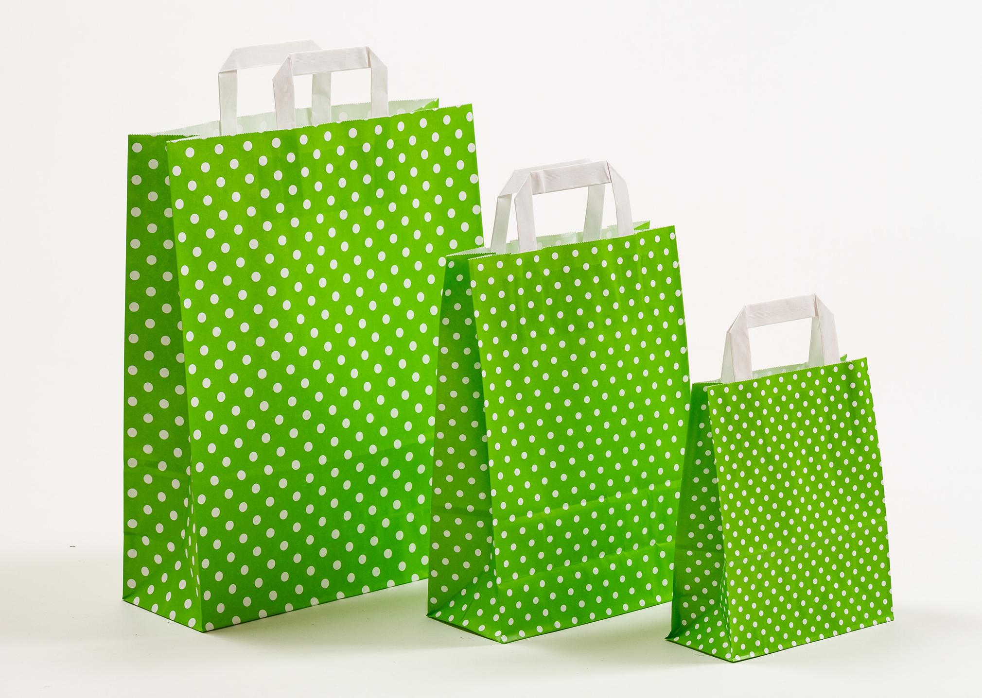 Punkte grün-weiß