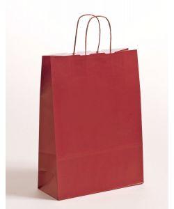 Papiertragetaschen mit gedrehter Papierkordel bordeaux 32 x 13 x 42,5 cm, 250 Stück