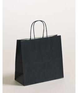 Papiertragetaschen mit gedrehter Papierkordel dunkelblau 25 x 11 x 24 cm, 250 Stück