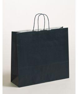 Papiertragetaschen mit gedrehter Papierkordel dunkelblau 42 x 13 x 37 cm, 150 Stück