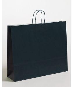 Papiertragetaschen mit gedrehter Papierkordel dunkelblau 54 x 14 x 45 cm, 125 Stück
