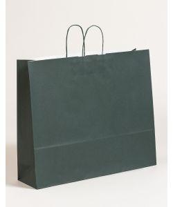 Papiertragetaschen mit gedrehter Papierkordel dunkelgrün 54 x 14 x 45 cm, 125 Stück
