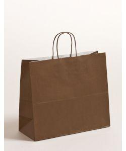 Papiertragetaschen mit gedrehter Papierkordel braun 32 x 13 x 28 cm, 250 Stück