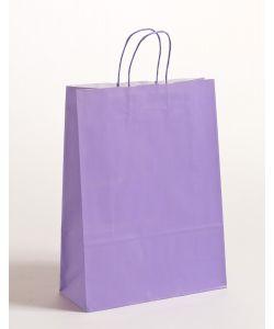 Papiertragetaschen mit gedrehter Papierkordel violett 32 x 13 x 42,5 cm, 250 Stück