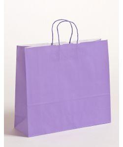 Papiertragetaschen mit gedrehter Papierkordel violett 42 x 13 x 37 cm, 150 Stück