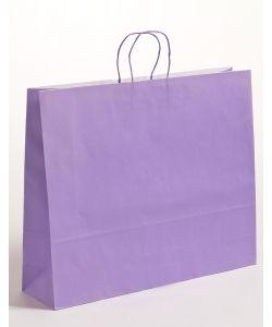 Papiertragetaschen mit gedrehter Papierkordel violett 54 x 14 x 45 cm, 125 Stück