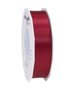 0,16€/m Satinband bordeaux 25 mm x 25 m
