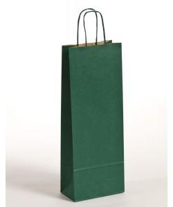 Flaschentaschen Papiertragetaschen mit gedrehter Papierkordel grün 15 x 8 x 39,5 cm, 300 Stück