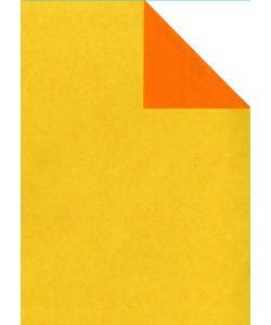 0,39 €/m Geschenkpapier 2-seitig gelb/orange Rolle 50 cm x 250 lfm