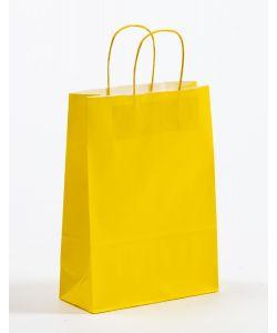 Papiertragetaschen mit gedrehter Papierkordel gelb 23 x 10 x 32 cm, 100 Stück