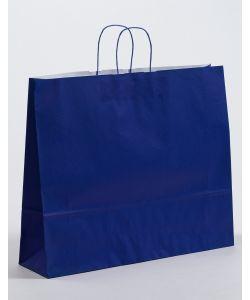 Papiertragetaschen mit gedrehter Papierkordel blau 54 x 14 x 45 cm, 100 Stück