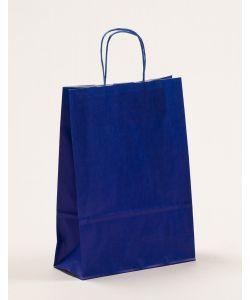 Papiertragetaschen mit gedrehter Papierkordel blau 23 x 10 x 32 cm, 250 Stück