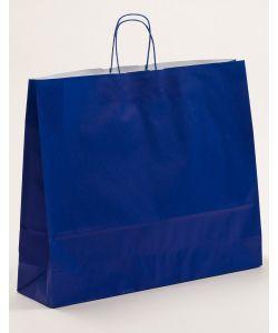 Papiertragetaschen mit gedrehter Papierkordel blau 54 x 14 x 45 cm, 125 Stück