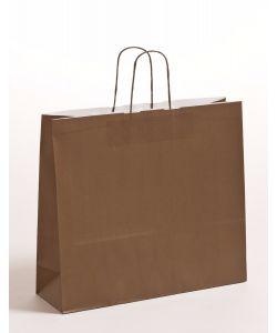 Papiertragetaschen mit gedrehter Papierkordel braun 42 x 13 x 37 cm, 150 Stück