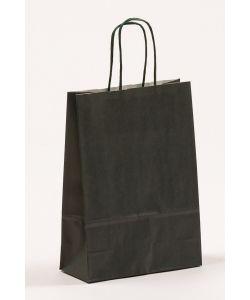 Papiertragetaschen mit gedrehter Papierkordel dunkelgrün 18 x 8 x 25 cm, 300 Stück