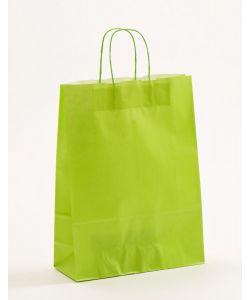 Papiertragetaschen mit gedrehter Papierkordel hellgrün 32 x 13 x 42.5 cm, 200 Stück