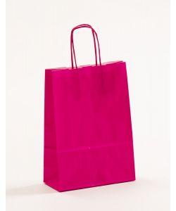 Papiertragetaschen mit gedrehter Papierkordel pink-magenta 18 x 8 x 25 cm, 300 Stück