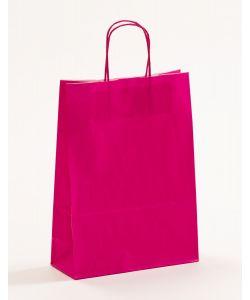 Papiertragetaschen mit gedrehter Papierkordel pink-magenta 23 x 10 x 32 cm, 250 Stück