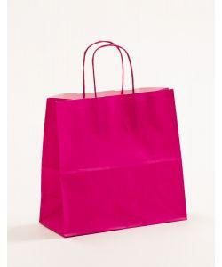 Papiertragetaschen mit gedrehter Papierkordel pink-magenta 25 x 11 x 24 cm, 250 Stück