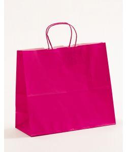 Papiertragetaschen mit gedrehter Papierkordel pink-magenta 32 x 13 x 28 cm, 250 Stück