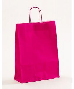 Papiertragetaschen mit gedrehter Papierkordel pink-magenta 32 x 13 x 42,5 cm, 250 Stück