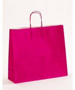 Papiertragetaschen mit gedrehter Papierkordel pink-magenta 42 x 13 x 37 cm, 150 Stück
