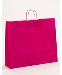Papiertragetaschen mit gedrehter Papierkordel pink-magenta 54 x 14 x 45 cm, 125 Stück