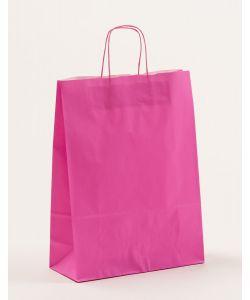 Papiertragetaschen mit gedrehter Papierkordel pink 32 x 13 x 42,5 cm, 250 Stück