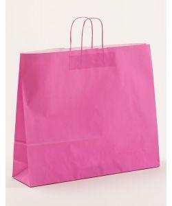 Papiertragetaschen mit gedrehter Papierkordel pink 54 x 14 x 45 cm, 125 Stück