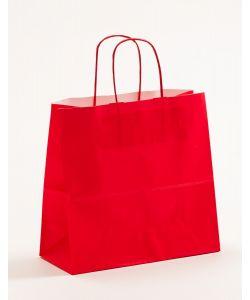 Papiertragetaschen mit gedrehter Papierkordel rot 25 x 11 x 24 cm, 250 Stück