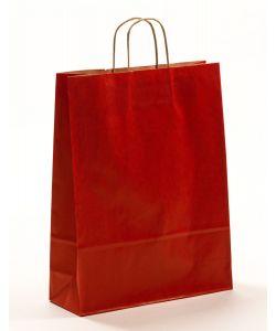 Papiertragetaschen mit gedrehter Papierkordel rot 32 x 12 x 41 cm, 025 Stück