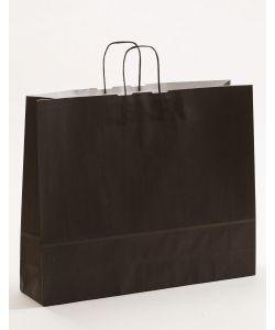 Papiertragetaschen mit gedrehter Papierkordel schwarz 54 x 14 x 45 cm, 100 Stück
