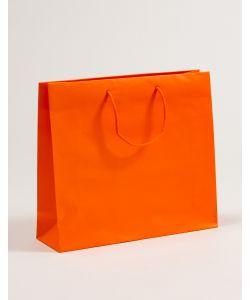 Papiertragetaschen mit Baumwollkordeln orange 40 x 12 x 36 + 5 cm, 025 Stück