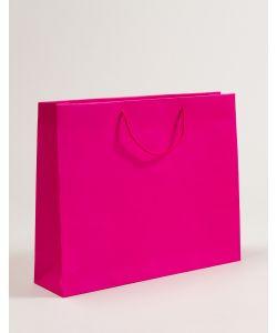 Papiertragetaschen mit Baumwollkordeln pink 54 x 14 x 44 + 5 cm, 025 Stück