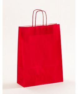 Papiertragetaschen mit gedrehter Papierkordel rot 32 x 13 x 42,5 cm, 025 Stück