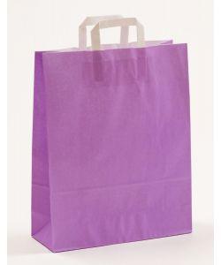 Papiertragetaschen mit Flachhenkel violett 32 x 12 x 40 cm, 050 Stück
