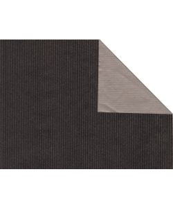 0,58 €/m Geschenkpapier 2-seitig schwarz/silber Rolle 50 cm x 100 lfm