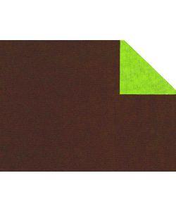 0,58 €/m Geschenkpapier 2-seitig braun/grün Rolle 50 cm x 100 lfm