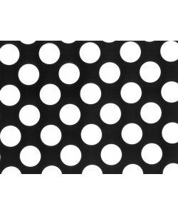 0,48 €/m Geschenkpapier Punkte schwarz/weiß Rolle 50 cm x 100 lfm