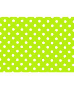 Geschenkpapier Punkte grün Rolle 50 cm x 100 lfm