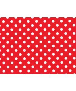 0,48 €/m Geschenkpapier Punkte rot Rolle 50 cm x 100 lfm