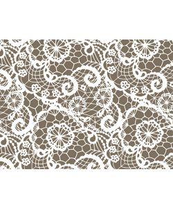 0,48 €/m Geschenkpapier Spitze/Lace grau Rolle 50 cm x 100 lfm