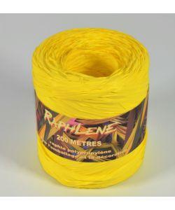 0,048€/m Raphia Band gelb 12,5 mm x 200 m