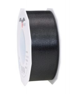 0,26€/m Satinband schwarz 40 mm x 25 m
