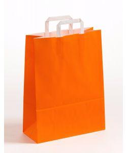 Papiertragetaschen mit Flachhenkel orange 32 x 12 x 40 cm, 200 Stück