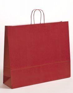 Papiertragetaschen mit gedrehter Papierkordel bordeaux 54 x 14 x 45 cm, 125 Stück