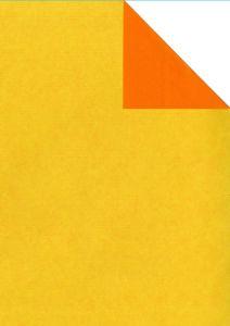 0,58 €/m Geschenkpapier 2-seitig gelb/orange Rolle 50 cm x 100 lfm