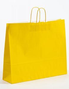 Papiertragetaschen mit gedrehter Papierkordel gelb 54 x 14 x 45 cm, 100 Stück