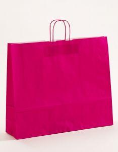 Papiertragetaschen mit gedrehter Papierkordel pink-magenta 54 x 14 x 45 cm, 100 Stück